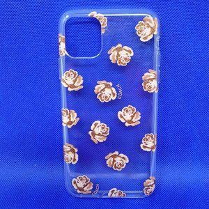 """Coach Case for iPhone 11 Pro Max 6.5""""- Pink Roses"""